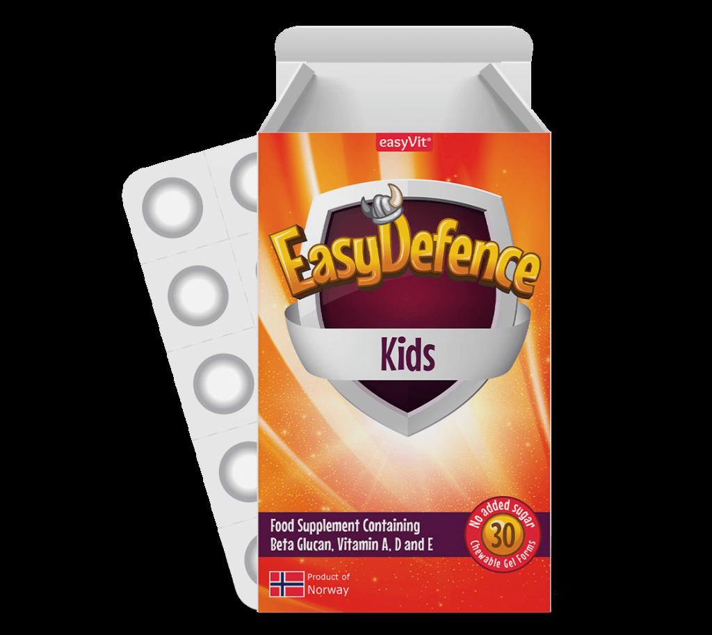 EasyDefence           Kauwbare Beta Glucan  Voor Kinderen
