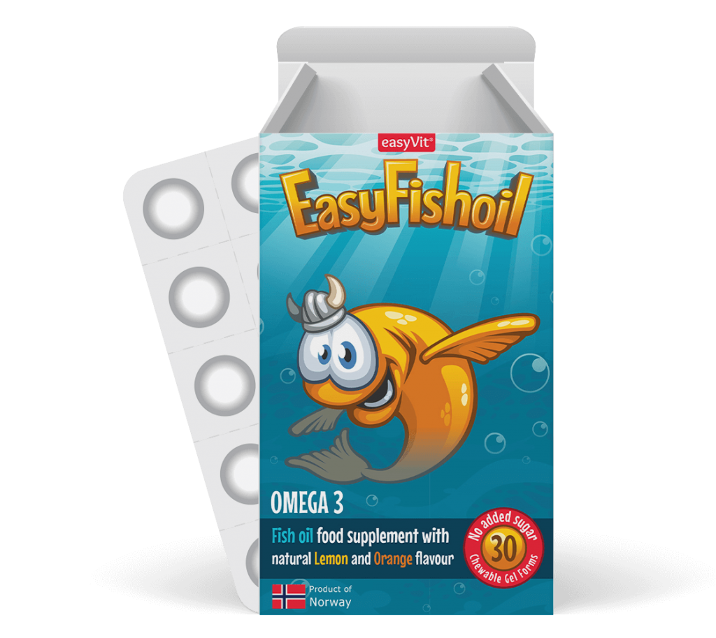 EasyFishoil         Visolie + Vitamine D Voor Kinderen