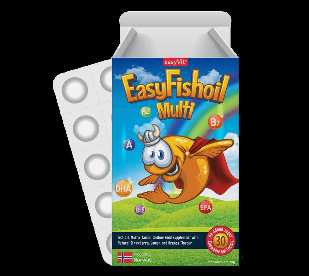EasyFishoil         Multi   Visolie + Multivitamine  Voor Kinderen